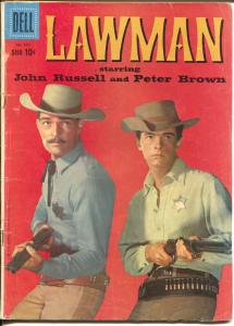 Lawman-Four Color Comics #970 1959-Dell-1st issue-Peter Brown-John Russell-VG