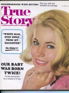 True Story 10/1964White Man Stay Away From My Daughter-pin up girl cover-expl...