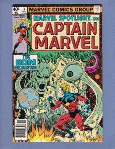 Marvel Spotlight #3 VF Captain Marvel 1979
