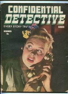 CONFIDENTIAL DETECTIVE CASES December 1944-MURDERED-DEATH-MOBSTERS VG