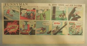 Funnyman Sunday Page by Siegel & Shuster 12/12/1948 Third Page Size Very Rare