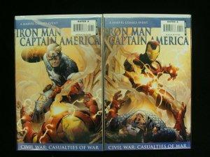 Marvel Iron Man/Captain America Civil War Casualties of War Set of 2 Connecting