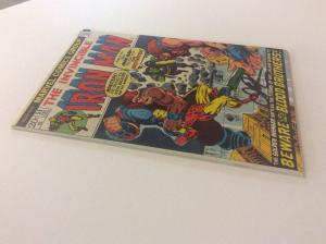 INVINCIBLE IRON MAN #55-Key Issue-1st App. of Thanos-Signed by Jim Starlin w/COA