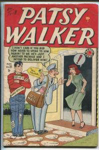 PATSY WALKER #21 1949-ATLAS-HURTZMAN-CINDY-GOOD GIRL ART-JEANIE-good