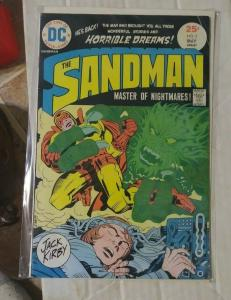 SANDMAN # 2  1975 DC COMICS +JACK KIRBY ! VS EVIL DR SPIDER  white pages