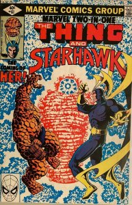 The thing and starhawk #61 DIR 4.0 VG (1980)