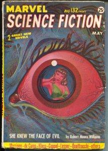 Marvel Science Fiction 5/1952-eye ball GGA cover-L Sparague de Camp-VG