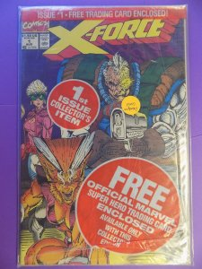 X-FORCE # 1 STILL SEALED DEADPOOL CARD