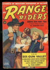 Range Riders Pulp 4//1939- Dakota Dave Rides Trail VG