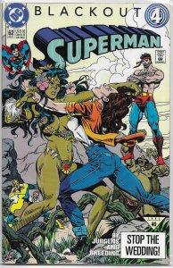 Superman   vol. 2   # 62 VF (Blackout 4) Sonic the Hedgehog