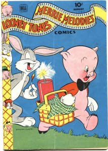 LOONEY TUNES AND MERRIE MELODIES #46-1945-BUGS BUNNY--FIREWORKS--DELL