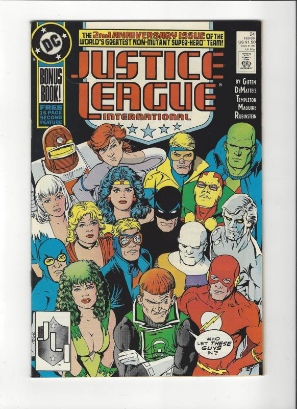 Justice League International #24 1987 DC Comics Copper Age  NM