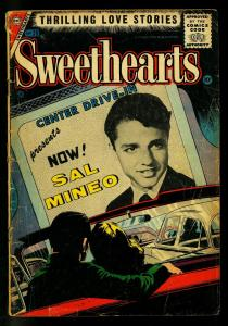 Sweethearts #39 1957- Sal Mineo Drive In Theater cover- Charlton Romance- G
