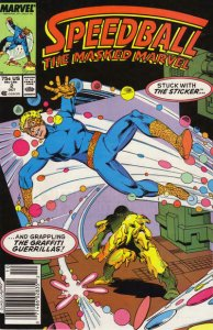 Speedball #2 (Newsstand) VG; Marvel   low grade comic - save on shipping - detai