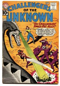 CHALLENGERS OF THE UNKNOWN-#21-comic book DINOSAUR CVR VF-