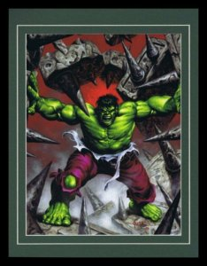 Incredible Hulk Avengers Framed 11x14 Marvel Masterpieces Poster Display