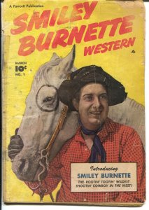 Smiley Burnette #1 1950-Fawcett-1st issue-photo covers-B-western sidekick-FR