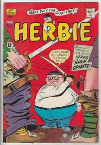 Herbie #7 (Jan-64) FN/VF Mid-High-Grade Herbie Popnecker