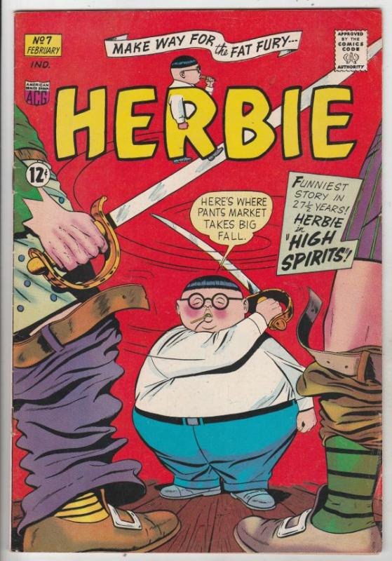 Herbie #7 (Jan-64) FN/VF Mid-High-Grade Herbie Popnecker