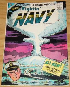 Fightin' Navy #74 FN- january 1956 - charlton comics - silver age war  1st issue