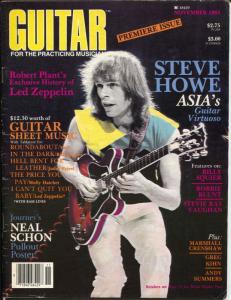 Guitar #1 11/1983-Steve Howe cover-David Bowie-Eddie Van Halen-VG
