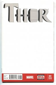 THOR #1 2014 Blank cover variant Female Thor - comic book