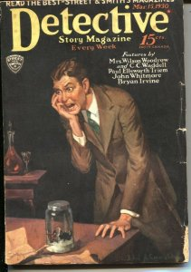 DETECTIVE STORY MAGAZINE-MAR 15 1930-PULP CRIME-INSECT TERROR COVER-vg minus VG-