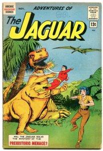 Adventures of the Jaguar #10 1962- Archie comics- Dinosaur cover- VG/F