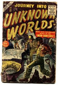 JOURNEY INTO UNKNOWN WORLDS #42 comic book 1956-ATLAS-SCI-FI-SYD SHORES