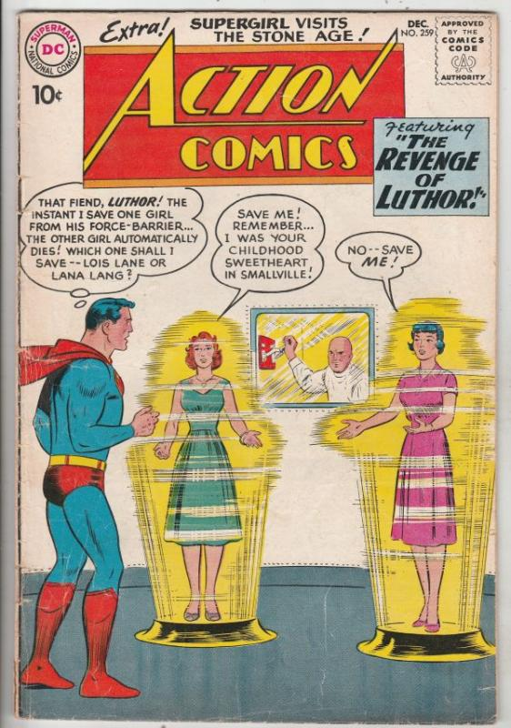 Action Comics #259 (Dec-59) FN Mid-Grade Superman