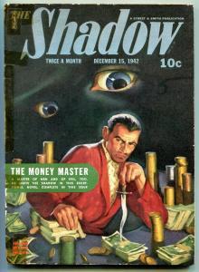 Shadow 12/15/1942-Street & Smith-classic hero pulp-eyeball cover-VG