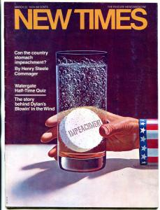 New Times March 22 1974- Superheroes invade Watergate- Kirby FN