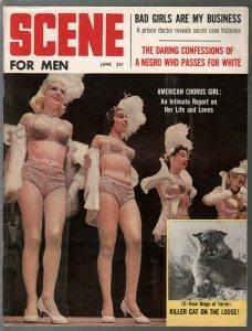 Scene For Men 6/1960-TV Westerns-chorus girls-cheesecake pix-Maverick-VG/FN