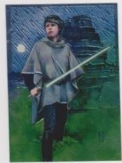 1996 Topps Finest Star Wars LUKE SKYWALKER #2 Chromium