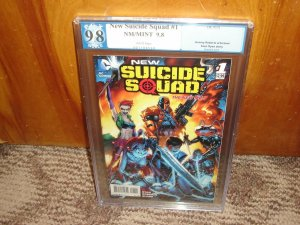New Suicide Squad #1 2014 PGX 9.8 Harley Quinn, Deathstroke!!