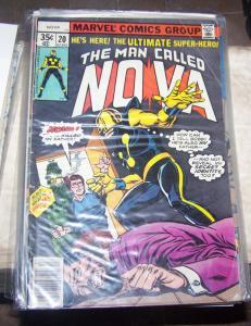 NOVA # 20 1978 MARVEL  PROJECT X RICHARD RIDER
