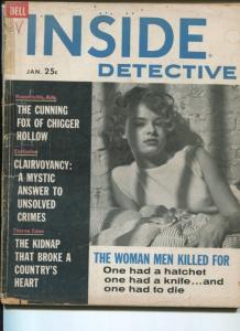 INSIDE DETECTIVE-01/1961-DELL MAGIZINE-CUNNING FOX OF CHIGGER HOLLOW-THORNE VG