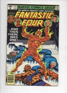 FANTASTIC FOUR #214, FN, Byrne, Sinnott, 1961 1980, Marvel, more FF in store