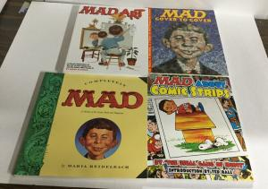 Mad 4 Book Lot Art Cover To Cover Comics Oversized SC Softcover B7