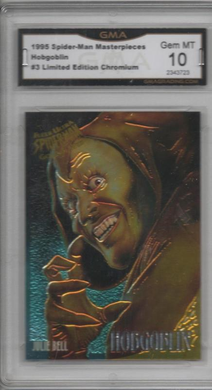 1995 Spider-man Masterpieces Julie Bell Hobgoblin Chromium Graded 10