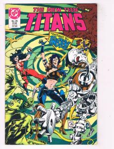 New Teen Titans (1984 2nd Series) #26 DC Comic Book Twister Nightwing Raven HH3