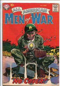 ALL-AMERICAN MEN OF WAR #62-1958-WWII-DC-SILVER AGE-.50 CALIBER MACHINE GUN-fn