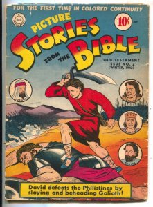 Picture Stories From The Bible-Old Testament #2 1942-DC-Davod-Goliath-Samson-...