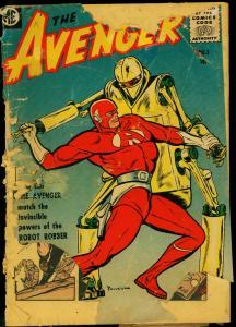 The Avenger #3 1955- ME Comics Bob Powell- LOW GRADE POOR