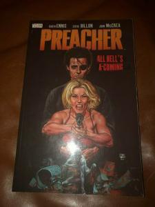 Preacher Vol # 8 All Hell's Coming DC Vertigo TPB Graphic Novel Comic Book J324