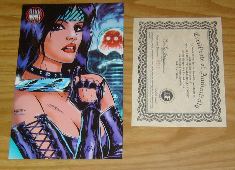 Double Impact #6 VF/NM signed by ricky carralero with DF COA (#371 of 1,000)