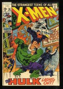 X-Men #66 VG/FN 5.0 Hulk!