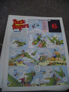 BUCK ROGERS #6-ITALIAN SUNDAY STRIP REPRINTS-CALKINS FN