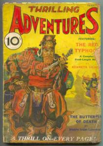 Thrilling Adventures Pulp #2 February 1932- RED TYPHOON