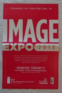 IMAGE EXPO 2018 Promo poster, 11 x 17, 2018, IMAGE, Unused more in our store 013